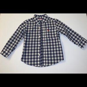 Carter's boy button down long sleeve shirt